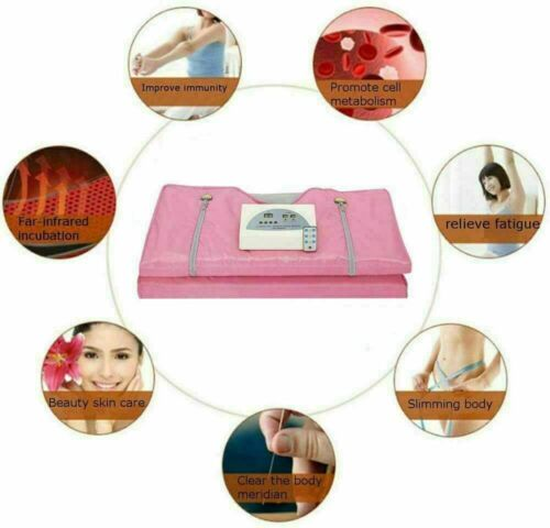 Far Infrared Sauna Blanket Detox Slimming Suit Home Spa Weight Loss Machine Set