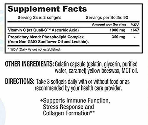 Core Med Liposomal Vitamin C Softgels 1000mg/dose - Quali®-C 3 Month  3