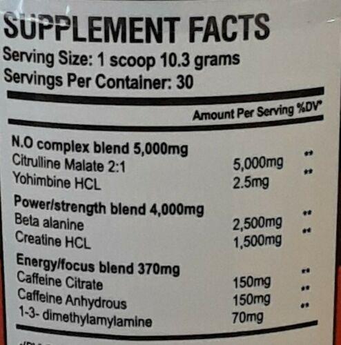 Juggernaut Nutrition Irate OG choose flavor 1