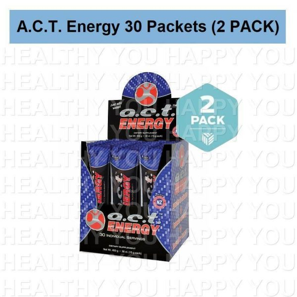A.C.T. Energy 30 Packets On The Go [2 PACK] ACT Youngevity
