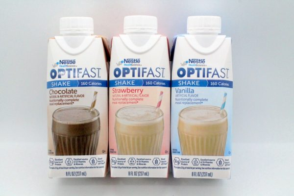 OPTIFAST 800  READY TO DRINK SHAKES - COMBO 8 CHOCOLATE, 8 STRAWBERRY, 8 VANILLA