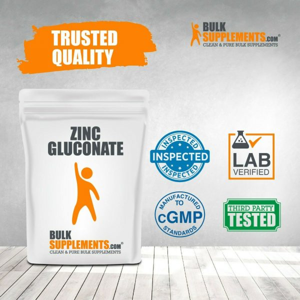 BulkSupplements.com Zinc Gluconate Powder - Raw Zinc - Zinc Supplements 4