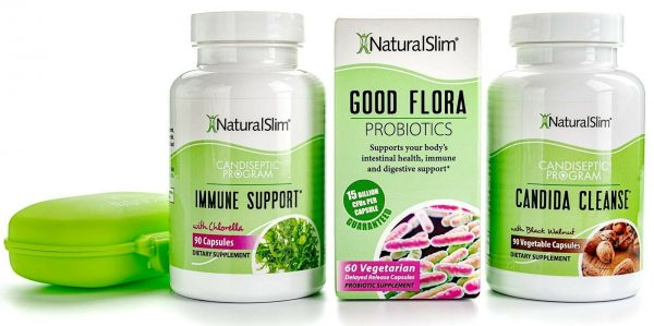 NaturalSlim CANDIDA Albicans Treatment Kit for Full Detox and Cleanse of Fungus