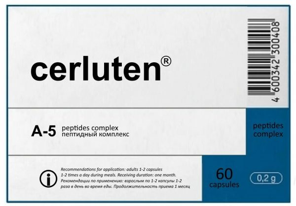 A-5 Cerluten Original Natural Khavinson Brain Peptide Bioregulator 60 capsules