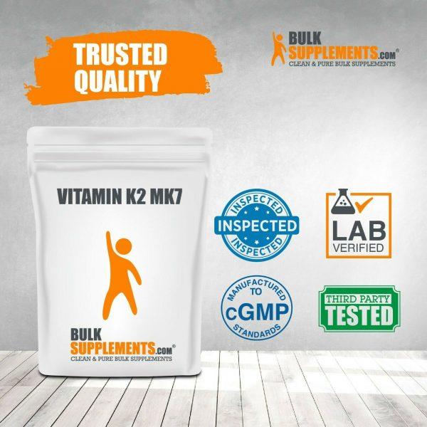 BulkSupplements.com Vitamin K2 MK7 - Heart Vitamins - Vitamin K2 Supplement 4