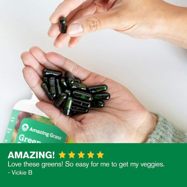 Amazing Grass Green Superfood Capsules: Super Greens with Spirulina,... 4