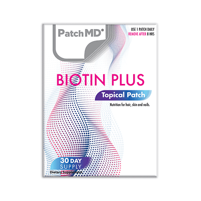 PatchMD Biotin Plus Topical Patch - 30 Days - Patch MD Authentic  2