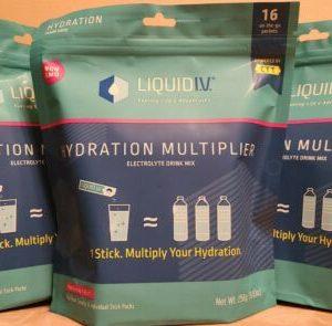 (LOT OF 3) Liquid I.V. Hydration Multiplier Mix 48 total Sticks Passion Fruit