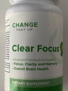 (6) Bottles Of Change That Up Clear Focus Supplement. Focus, Clarity, and Memory