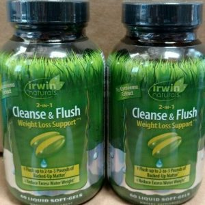 (12) IRWIN NATURALS 2 IN 1 CLEANSE AND FLUSH WEIGHT LOSS SUPPORT 60 SOFT GELS 1