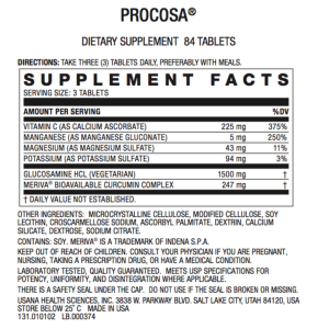 2 USANA Procosa with InCelligence Joint Health Optimizer 84 tablets 02/2022 BE 1