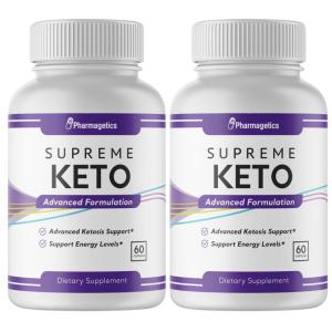 Supreme Keto Weight Management - Advanced Formulation - 2 Bottles - 120 Capsules