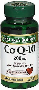 Nature's Bounty Extra Strength Co Q-10 200 mg Softgels -45 ct, Pack of 4