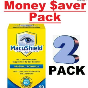 (2 PACK) Macushield With Meso-zeaxanthin For Macular Health 90 Caps - 2 BOX 1