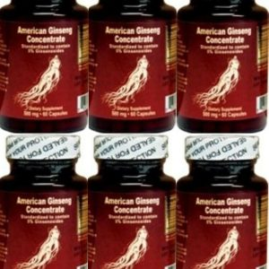 6 bottles Nu-Health American Ginseng Concentrate Extract (60 Capsules/bottle)
